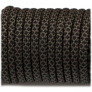 Paracord Type III 550, black snake #308
